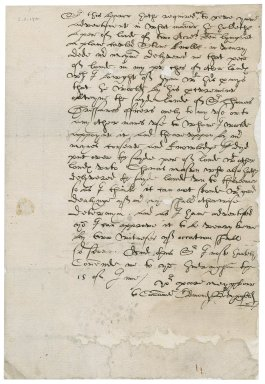 Letter from Edmond Bedingfield to Nathaniel Bacon