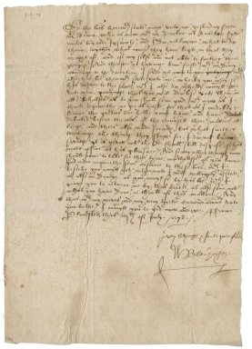 Letter from William Blenerhaset to Nathaniel Bacon