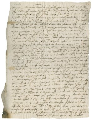 Letter from Hugh Boothe to Nathaniel Bacon
