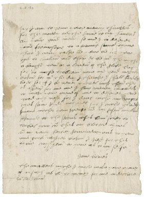 Letter from Jane Bowes to [Nathaniel Bacon]