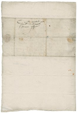Letter from Jerome Bowes to Nathaniel Bacon