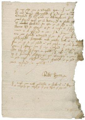 Letter from Robert Bozoun to Nathaniel Bacon