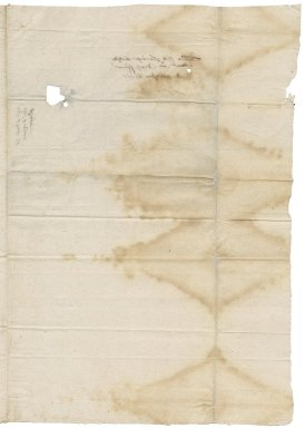 Letter from Edward Breese to Ralph Furner [i.e. Farmer?]