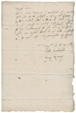 Letter from Anthony Buckworth to Nathaniel Bacon
