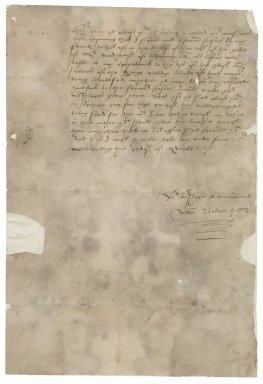 Letter from William Bulwer to [Nathaniel] Bacon