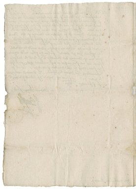 Letter from William Cecil, Lord Burghley, Lord Treasurer, to Nathaniel Bacon