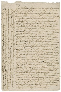 Letter from W. Bussin? to Lady Anne (Bacon) Townshend