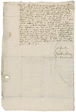 Letter from Sir William Buttes to Nathaniel Bacon