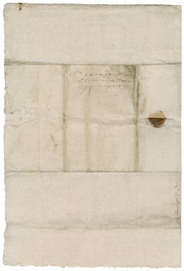 Letter from Bertram Calthorpe to Nathaniel Bacon