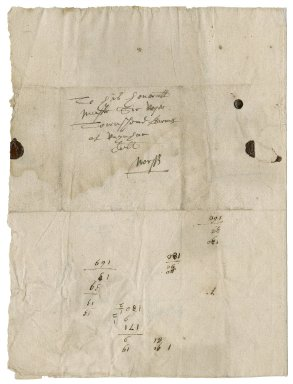 Letter from Thomas Canton to Roger Townshend, 1st bart