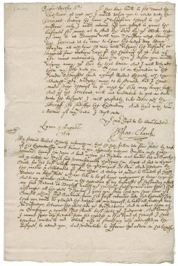 Letter from Matthew Clarke to Nathaniel Bacon