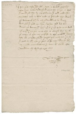 Letter from Henry Clifton to Roger Townshend (1543?-1590)