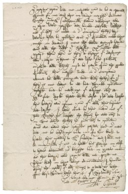 Letter from Thomas Clipwell to Martin Man