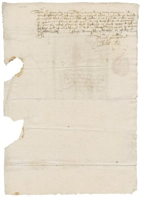 Letter from Sir Edward Coke to Nathaniel Bacon