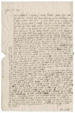 Letter from Anne Corbet to Roger Townshend, 1st bart.
