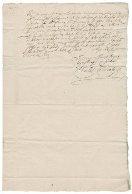 Letter from Sir Charles Cornwallis to Christopher Heydon