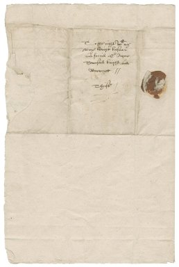 Letter from Sir Charles Cornwallis to Roger Townshend, 1st bart