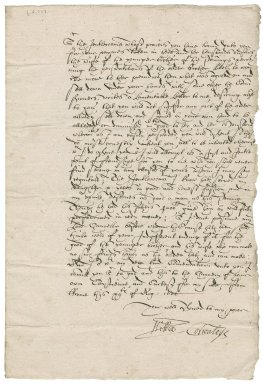 Letter from William Cornwallis to Nathaniel Bacon