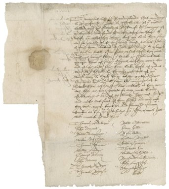 Letter from Christopher Crowe to Nathaniel Bacon
