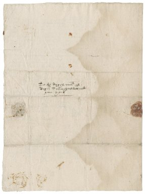 Letter from Henry Curson to Roger Townshend, 1st bart.