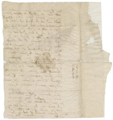 Letter from Edmund Dawber to [Roger Townshend, 1st bart]