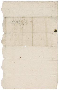 Letter from Lady Elizabeth (Bacon) Peryam to Nathaniel Bacon