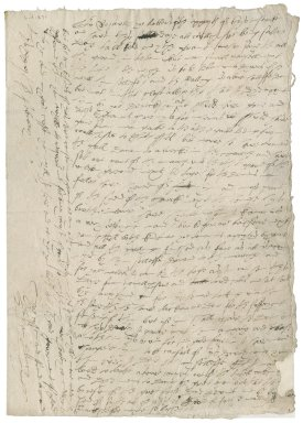 Letter from Bryan Drury to Sir Roger Townshend [1st bart?]