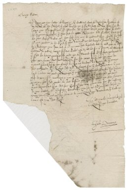 Letter from John Drury to Lady Anne (Bacon) Townshend