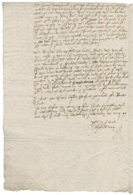 Letter from Stephen Drury to Sir John Townshend