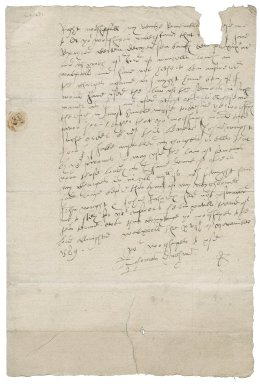 Letter from Thomas Durham to Roger Townshend (1543?-1590)