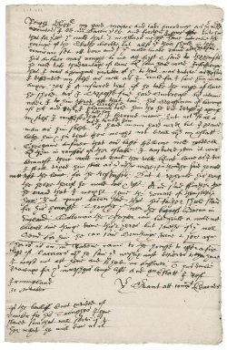 Letter from [John or William or P?] Edmondes to Nathaniel Bacon