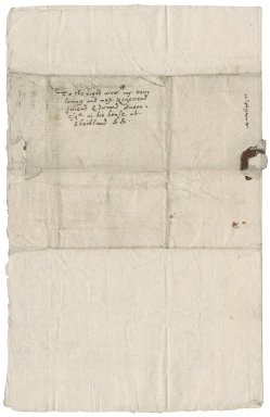 Letter from Josias Fawether [or Fatherer] to Edward Bacon