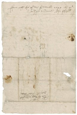 Letter from John Foxall to Nathaniel Bacon
