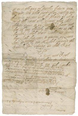 Letter from Elizabeth Gauden to unknown recipient