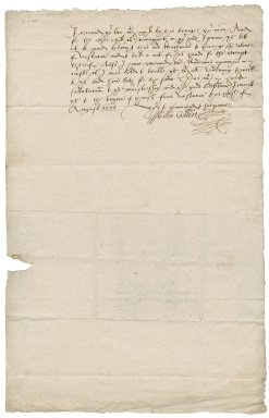 Letter from William Gilbert, servant of Sir Thomas Gresham, to Nathaniel Bacon
