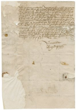 Letter from Richard Hodgson to Nathaniel Bacon