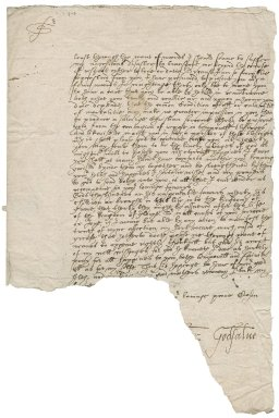 Letter from Roger Godsalve to Roger Townshend, 1st bart.