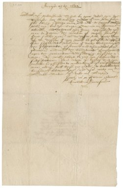 Letter from Arnold Gonerson to Roger Townshend, 1st bart.
