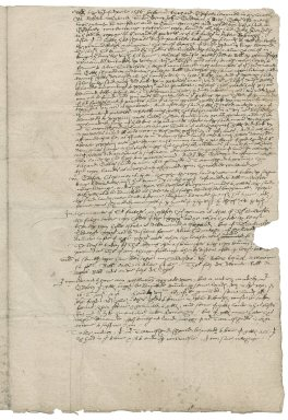 Letter from John Goodwin to Roger Townshend, 1st bart.
