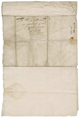 Letter from Christopher Grimestone to Nathaniel Bacon