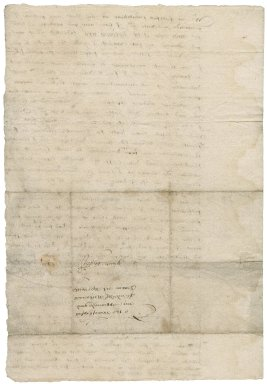 Letter from Edward Grimestone to Nathaniel Bacon