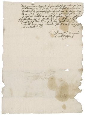Letter from Thomas Grymes [i.e. Gryme] to Nathaniel Bacon