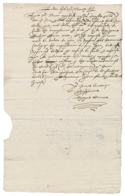 Letter from Richard Gurnard to Richard [i.e. Martin?] Man