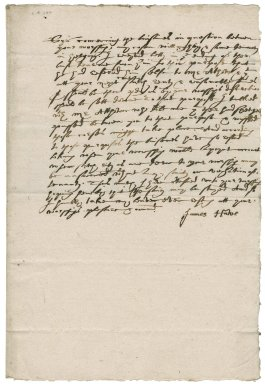 Letter from James Hawe to Nathaniel Bacon