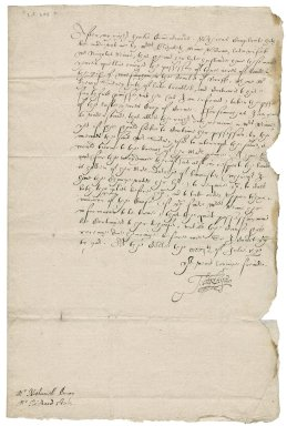 Letter from Sir Thomas Heneage to Nathaniel Bacon and Richard Stables
