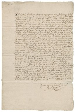 Letter from Anne Heydon to Nathaniel Bacon