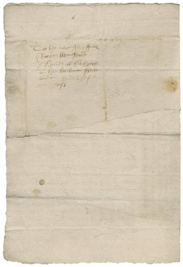 Letter from John Hoogan to Roger Townshend (1543?-1590)