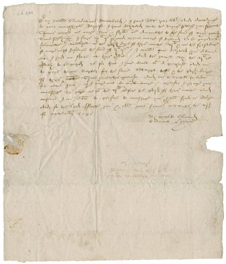 Letter from Clement Hyrne to Nathaniel Bacon