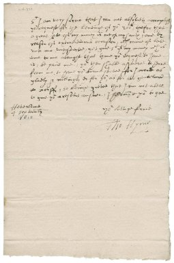 Letter from Thomas Hyrne to Nathaniel Bacon