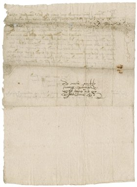 Letter from John Jennings [i.e. Jennyns] to Nathaniel Bacon